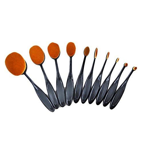 Lot de 10 Pinceaux Maquillage Cosmétique Professionnel YOKIRIN Brush Beauté