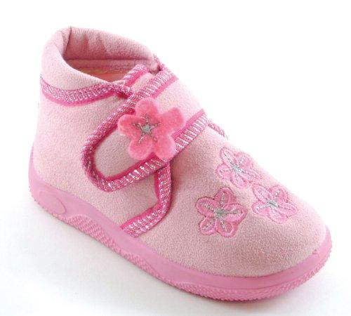 SlumberzzZ - Chaussons Bottes Bébés/Enfants Avec Dessus Scratch Rose - Rose clair
