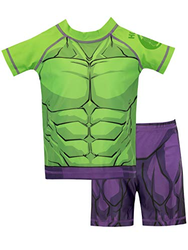 27fa6db92e Marvel Boys The Incredible Hulk Swim Set Green Age 4-5 Years