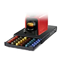 HiveNets Nespresso Capsule Drawer Coffee Pod Storage Support Compatible Metal Holder for 60 Pcs