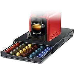 HiveNets Nespresso Cápsula Café Máquina Cajón Metal para 60 Pcs