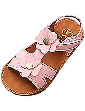 PAOLIAN Zapatos Para Niñas Verano Sandalias de Vestir Floral Plano Suela Blanda Fiesta Princesa Calzado Playa...