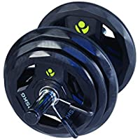 Physical Company 30 mm Dumbbell Set - Inlcudes 4 x 5kg, 2.5kg, 1.25kg, 2 Bars and Collars