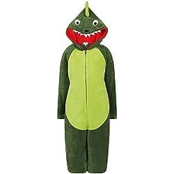 Nifty Kids - Pijama de una pieza - Manga Larga - para niña verde Dinosaurio Medium