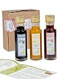 direct&friendly Bio Geschenkset und Probierset 3 Flaschen Bio Balsam Essige