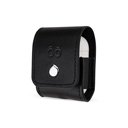 trooble Tasche für Apple AirPod-s wireless aus echtem Leder schwarz