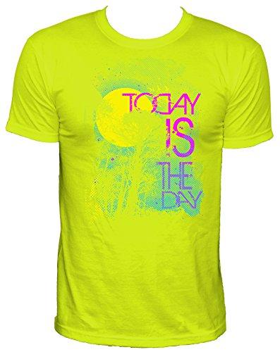neon-today-is-the-day-party-herren-t-shirtneongelbm