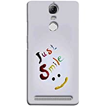 Printfidaa Lenovo K5 Note, Lenovo Vibe K5 Note Pro Back Cover Just Smile Printed Designer Back Case