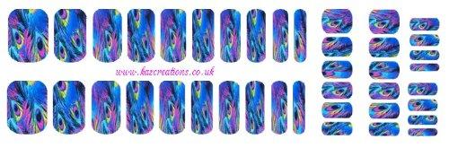 Stickers pour nail art - Motif plumes- Tailles adulte et enfant