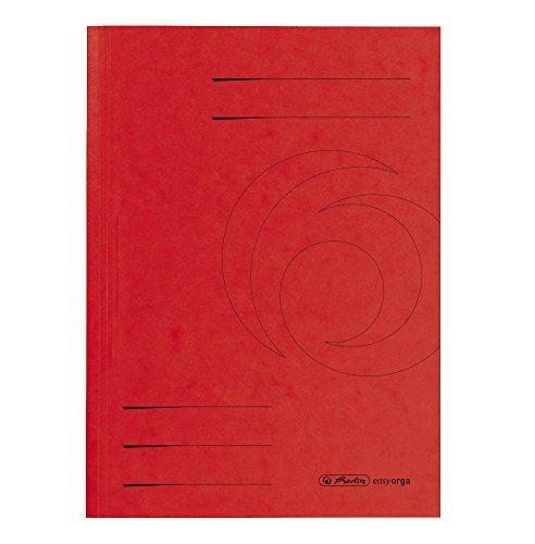 Herlitz 10902823 Aktendeckel A4, genutet, Colorspan, 25 Stück, rot