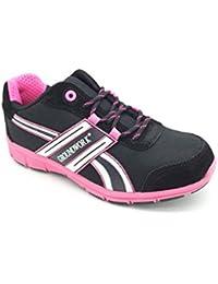 Groundwork Pour Femmes Léger Baskets de Sécurité Chaussures de Sécurité avec Embout Protecteur en Acier
