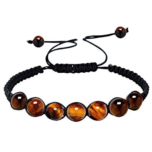 HARRYSTORE 7 chakras pulsera ajustables yoga jade ágata kundalini mujer terapias magneticas, curación energética (C)
