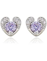 XUPING Platinum Plated Round Starlight Sparkling Crystal Stud Earrings for Women, Crystals from Swarovski