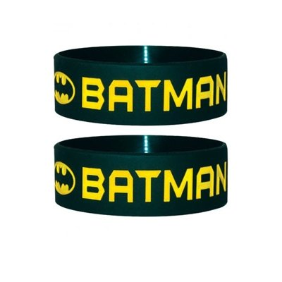 Batman Rubber Braccialetto Text & Logo Pyramid International