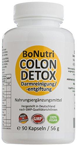 BoNutri Colon Detox Darmreiniger Qualität aus Deutschland Darmreinigung Darmsanierung Cleanse 90 vegane Kapseln Ohne Magnesiumstearat Diätbegleitung Entgiftung Monatsbedarf Darmgesundheit Stoffwechsel