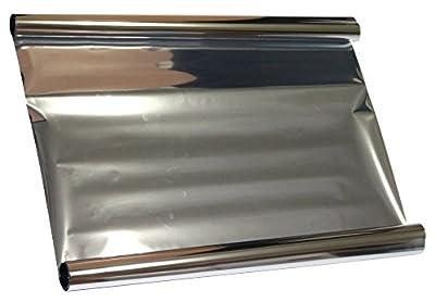 Aerzetix - 5x3=15 mètres 50 cm Film solaire teinté SILVER ARGENT EFFET MIROIR pour vitre fenêtre auto voiture velux bâtiment