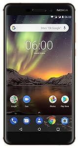 Nokia 6.1 - Dual SIM - Smartphone Débloqué 4G LTE (Ecran : 5,5 Pouces Full HD - Format 16:9 - 3Go RAM - 32Go Stockage - Android One) Noir [Version Française]