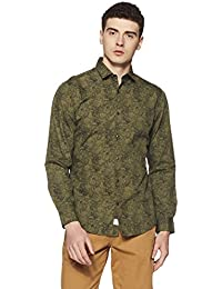 Peter England Men's Plain Slim Fit Casual Shirt