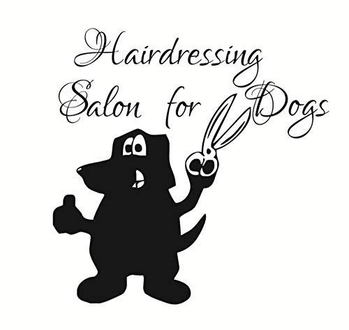Hlnaughty Haar Dressing Für HundeWandaufkleber Hunde Pflege Pet Shop Wandkunst Abnehmbare Lustige Abziehbilder Home Art Decor 44 Cmx44 Cm