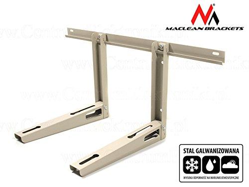 Maclean MC-622 Wandkonsole Wandhalter Wandhalterung Halterung Klimaanlagen Split Klimagerät Klimaanlage Stahl verzinkt Tragkraft 100kg
