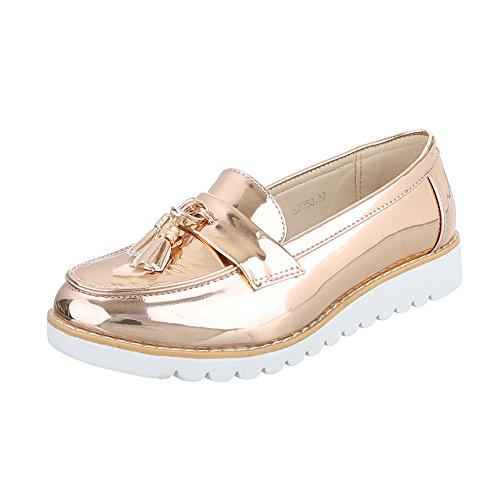 Ital-Design - Pantofole Donna Rosa Gold 62050