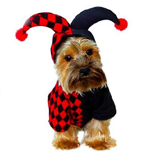 LHWY Neue Welpen Halloween Demon Kostüm Haustier Hunde Hooded Button Cardigan t Shirt Dress Hund (L)