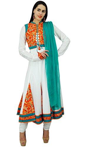 Atasi Frauen flaired Kleid Klage mit Dupatta & Designer Salwaar Kameez Indian Ethnic Kurta Kurti - Kameez Kurti