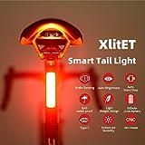 ENFITNIX XlitET Achterlicht voor fiets met sterke LED, USB oplaadbaar, slim fietsachterlicht, waterdicht achterlicht voor fie