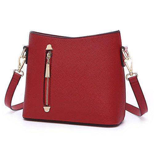 Sacchetti di mini studente dell'atmosfera, borsa a tracolla semplice della singola coreana di estate ( Colore : Grigio ) Vino rosso