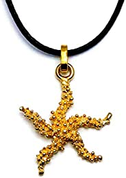 Gold Karat gioielli Ciondolo Stella Marina filigrana