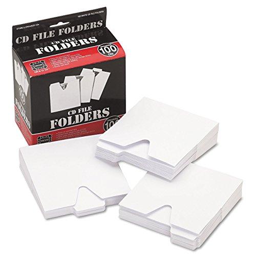 Vaultz Cd Aufbewahrung Datei Ordner, 100Ordner Pro Box, weiß (Vz01096)