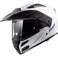 LS2 FF324 Metro EVO Motorbike Motorcycle Filp Up DVS Helmet Gloss White 3XL (65-66cm)