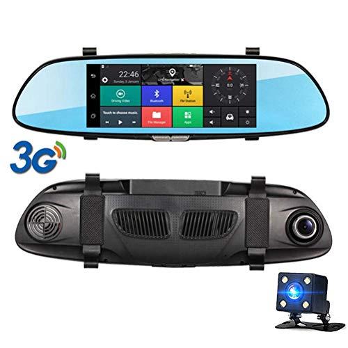 MYZZ 7 Zoll Berühren Auto DVR Rückspiegel 3G IPS GPS Bluetooth WiFi Android 5.0 Doppellinse FHD 1080p Videorecorder Autokamera Dvr-station