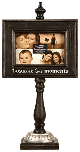 cr-gibson-treasured-wooden-photo-frame-stand-4-by-6-inch-black