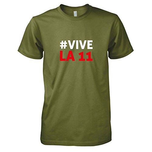 TEXLAB - Polska Vive La 11 - Herren T-Shirt, Größe XXL, (Kostüme Team Fußball Maskottchen)