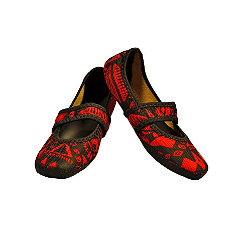 nufoot-fuzzies-womens-shoes-betsy-lou-red-aztec-medium
