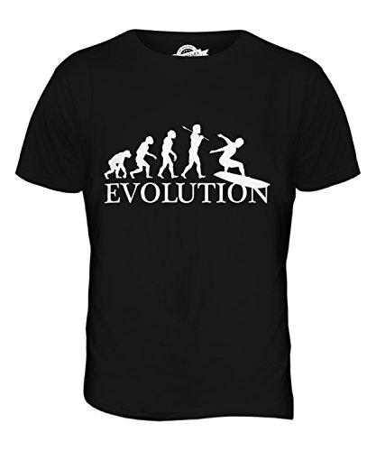 CandyMix Surfbrett Evolution Des Menschen Herren T Shirt Schwarz