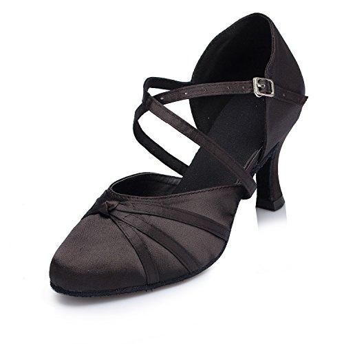 Miyoopark , Damen Tanzschuhe Black-7.5cm heel