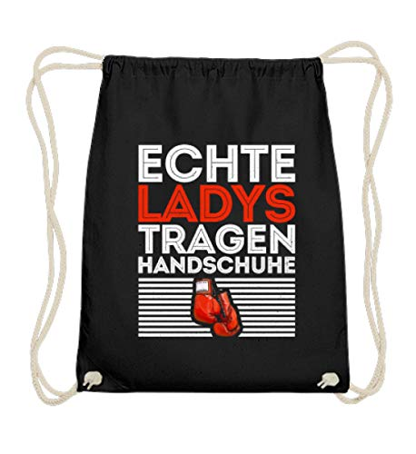 Chorchester Boxerin Echte Ladys Tragen Handschuhe - Baumwoll Gymsac