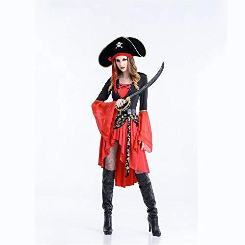 Yunfeng Hexenkostüm Damen Hexenkostüm Damen Halloween Kostüm Caribbean Pirate Kostüm Spiel Hexenkostüm Hexen Kostüm (Weibliche Caribbean Pirate Kostüm)