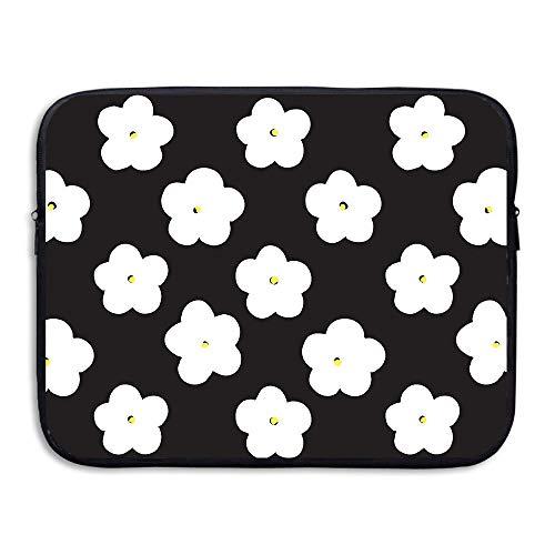 e1ae1a884d ASKSWF bolsa de ordenador portátil Business Briefcase Sleeve White Flowers  Pattern Laptop Sleeve Case Cover Handbag