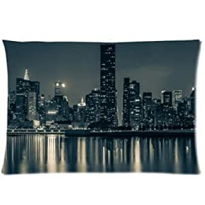 Hot Best Seller New York City Scapes New York City At Night Pillo wcase, Twin sides Pillo wcase Pillow Cover 20 * 30 inches inches