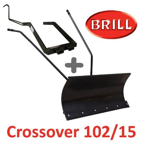 Lame à Neige 118 cm Noire + adaptateur pour BRILL Crossover 102/15