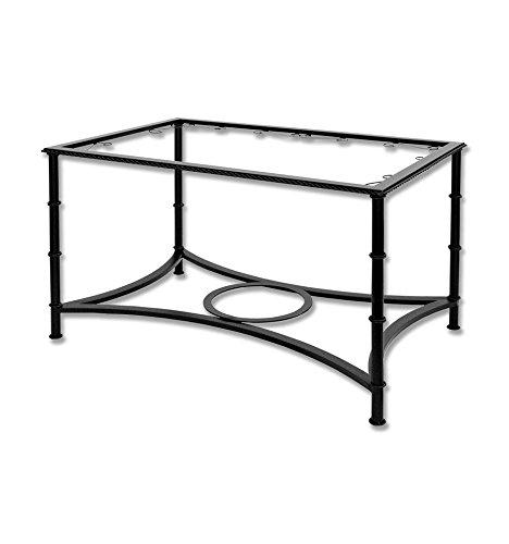 Mesa de camilla elevable de forja - Sin aglomerado, 19-Blanco (color con incremento de precio), Mesa de forja fija, Mesa de 120x75x(50-70) cm. de alto