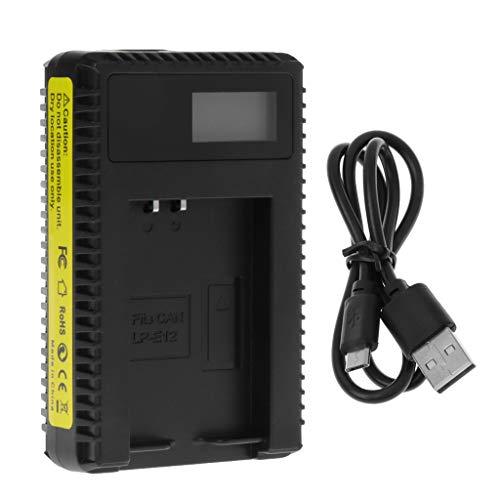 t LP-E12 Mit USB-Kabel Universal Portable LCD Display Single Slot ()
