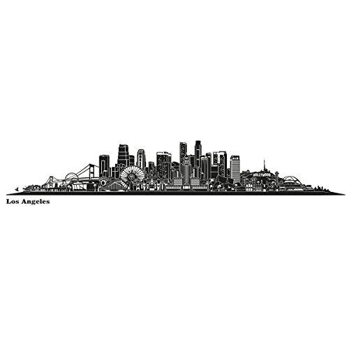 Wandkings Skyline - Deine Stadt wählbar - Los Angeles - 125 x 20 cm - Wandaufkleber Wandsticker Wandtattoo