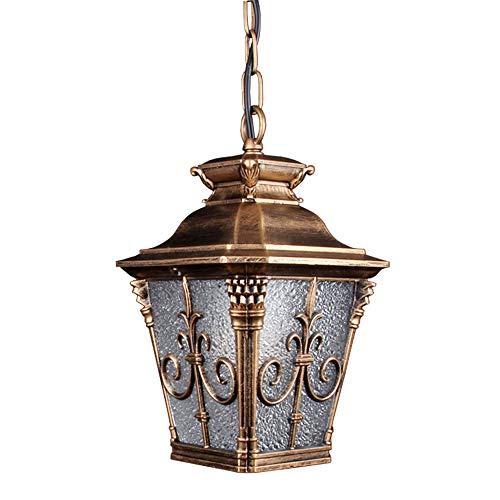Glas Öl Lampe Schatten (Retro Außen Hängeleuchte Wasserdichte IP44 E27 Außenleuchte Höhenverstellbar Pendellampe Aus Aluminium Glas Balkon Foyer Pavillon Trauben Rahmen Dekorative Outdoor Lampe(Schwarz Öl Gold))
