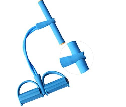Lingstar gomma Fitness Trim Body Foam Esercizio Palestra Pedale Foam piede Braccio Tummy stretching Rope pull-up elastico Expander Viola blu Blu