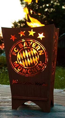FC Bayern München Feuerkorb Mia san mia eckig