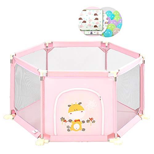 Babyzaun Laufstall Laufgitter Mit 100 Kugeln Und Krabbeldecke 8 Panel Kids Activity Center Sicherheitsspielplatz Portable Abnehmbar